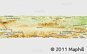 Physical Panoramic Map of Nowy Targ