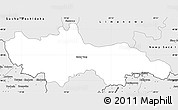 Silver Style Simple Map of Nowy Targ