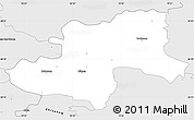 Silver Style Simple Map of Olkusz