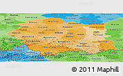 Political Shades Panoramic Map of Malopolske