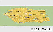 Savanna Style Panoramic Map of Malopolske, single color outside