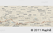 Shaded Relief Panoramic Map of Malopolske