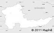 Silver Style Simple Map of Proszowice