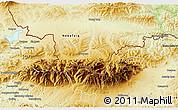 Physical 3D Map of Zakopane