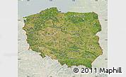 Satellite Map of Poland, lighten