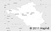 Silver Style Simple Map of Minsk Mazowiecki
