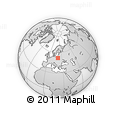 Outline Map of Mazowieckie