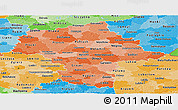 Political Shades Panoramic Map of Mazowieckie