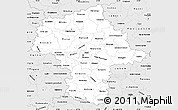 Silver Style Simple Map of Mazowieckie