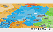Political Shades Panoramic Map of Opolskie