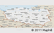 Classic Style Panoramic Map of Poland