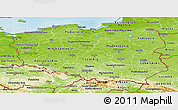 Physical Panoramic Map of Poland
