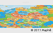 Political Panoramic Map of Poland