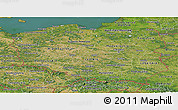 Satellite Panoramic Map of Poland