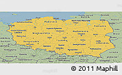Savanna Style Panoramic Map of Poland