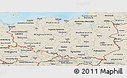 Shaded Relief Panoramic Map of Poland