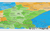 Political Shades Panoramic Map of Podkarpackie