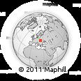 Outline Map of Ustrzyki Dolne
