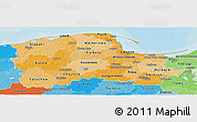 Political Shades Panoramic Map of Pomorskie