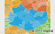 Political Shades Map of Swietokrzyskie