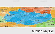 Political Shades Panoramic Map of Swietokrzyskie