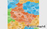 Political Shades 3D Map of Wielkopolskie