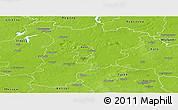 Physical Panoramic Map of Konin I