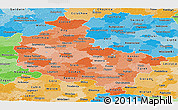 Political Shades Panoramic Map of Wielkopolskie
