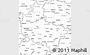 Blank Simple Map of Wielkopolskie