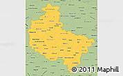 Savanna Style Simple Map of Wielkopolskie