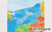 Political Shades 3D Map of Zachodnio-Pomorskie