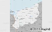 Gray Map of Zachodnio-Pomorskie