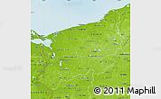 Physical Map of Zachodnio-Pomorskie