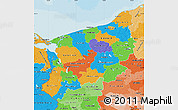 Political Map of Zachodnio-Pomorskie, political shades outside
