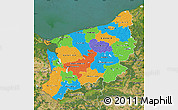 Political Map of Zachodnio-Pomorskie, satellite outside