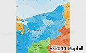 Political Shades Map of Zachodnio-Pomorskie