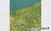 Satellite Map of Zachodnio-Pomorskie
