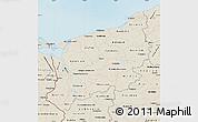Shaded Relief Map of Zachodnio-Pomorskie