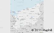 Silver Style Map of Zachodnio-Pomorskie