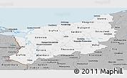 Gray Panoramic Map of Zachodnio-Pomorskie