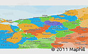 Political Panoramic Map of Zachodnio-Pomorskie, political shades outside