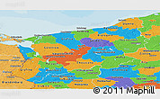 Political Panoramic Map of Zachodnio-Pomorskie