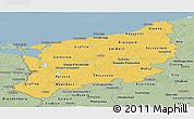 Savanna Style Panoramic Map of Zachodnio-Pomorskie