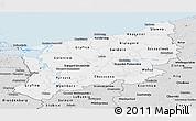 Silver Style Panoramic Map of Zachodnio-Pomorskie