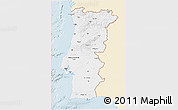 Classic Style 3D Map of Portugal, single color outside