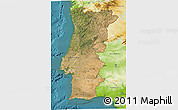 Satellite 3D Map of Portugal, physical outside, satellite sea
