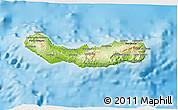 Physical 3D Map of Ribeira Grande