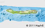 Physical Panoramic Map of Ribeira Grande