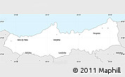 Silver Style Simple Map of Ribeira Grande