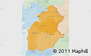Political Shades 3D Map of Alentejo, lighten